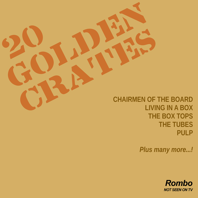 20 Golden Crates spoof cardboard compilation album.
