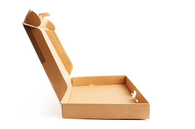 A cardboard pizza box by exopixel (via Shutterstock). A crime scene accessory?