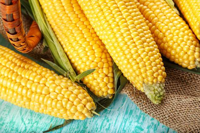 Sweetcorn by Shyripa Alexandr (via Shutterstock).