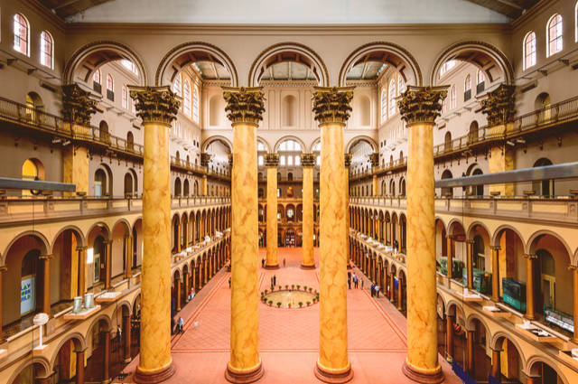 Great Hall National Building Museum image by Sean Pavone (via Shutterstock).