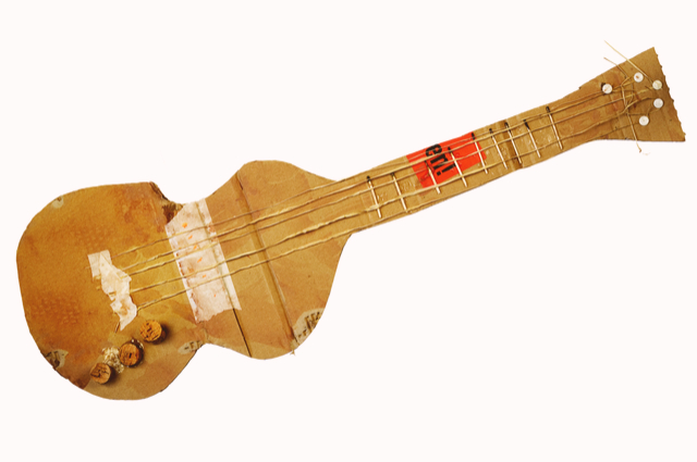 Cardboard Guitar image by Thomas Bethge (via Shutterstock).
